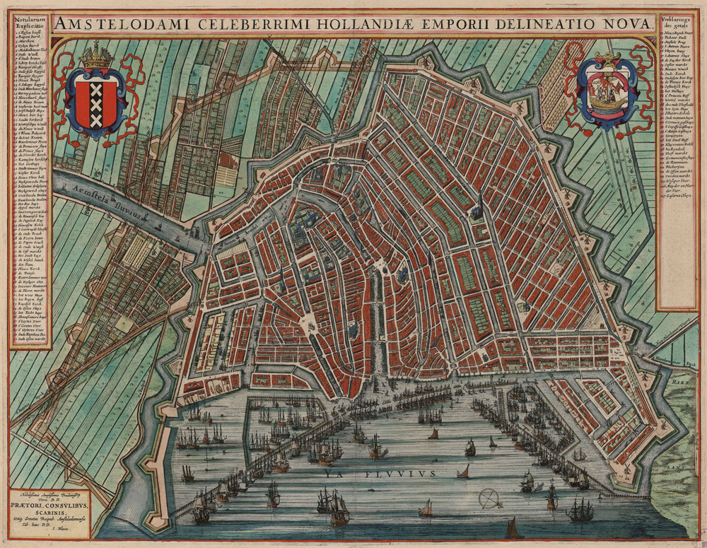 2020 Young Rembrandt Exhibition – Map of Amsterdam 1649