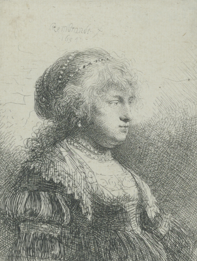 2020 Young Rembrandt Exhibition – Rembrandt, Saskia with pearls in her hair, 1634 © Fondation Custodia, Collection Frits Lugt, Paris