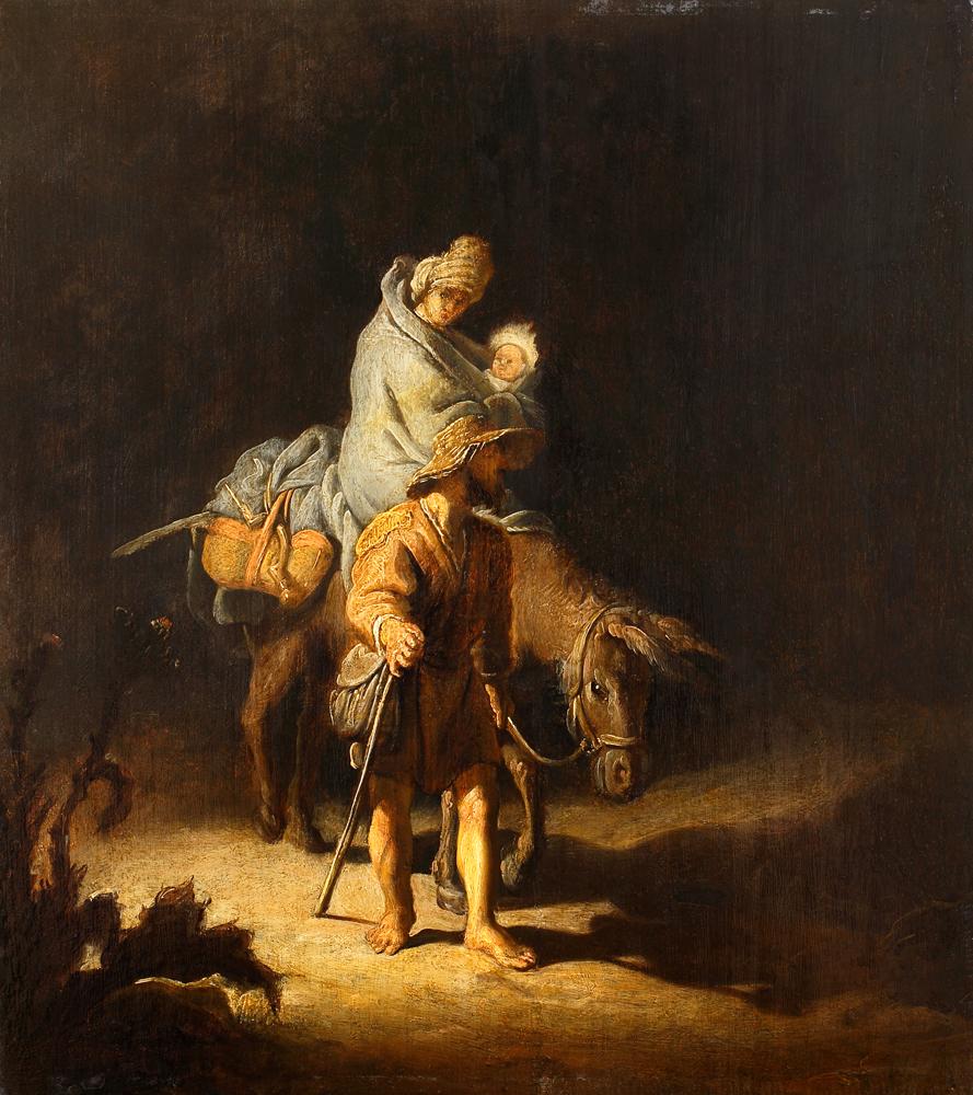 2020 Young Rembrandt Exhibition – Rembrandt, The Flight into Egypt, 1627 © Musée des Beaux-Arts, Tours