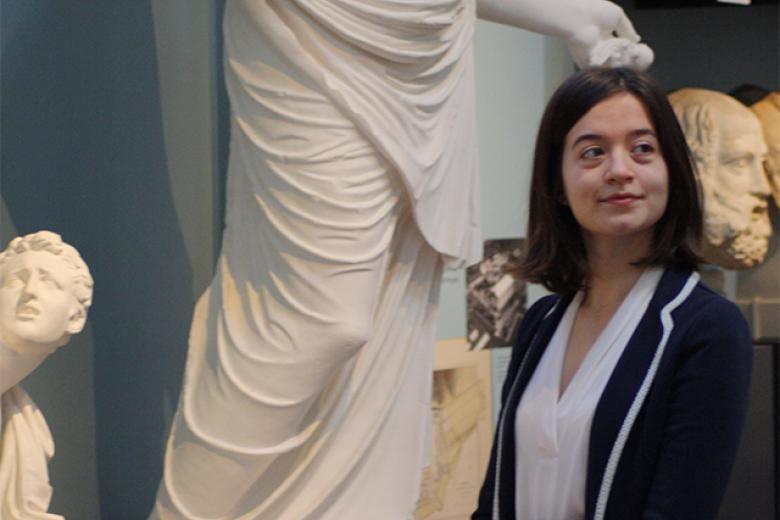 Abbey Ellis at the Ashmolean Museum