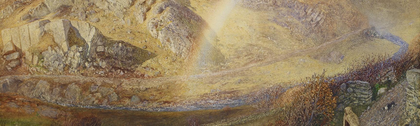 A W Hunt - Rainbow, Dolwyddelan Valley