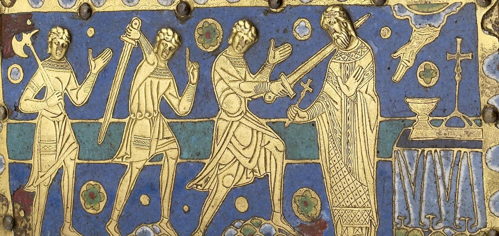 RELIQUARY CASKET OF ST THOMAS BECKET (detail) from the Ashmolean collections