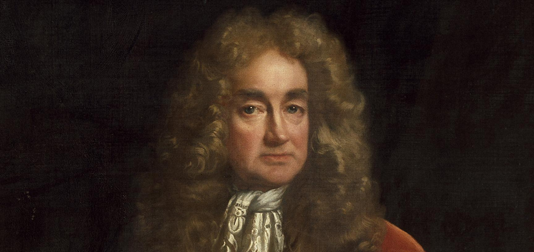 Portrait of Elias Ashmole by John Riley (detail) – The Ashmolean Story Gallery – Press Images