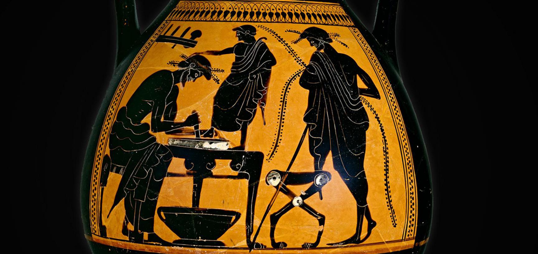 Shoemaker Vase, The Eucharides Painter, c. 500BC