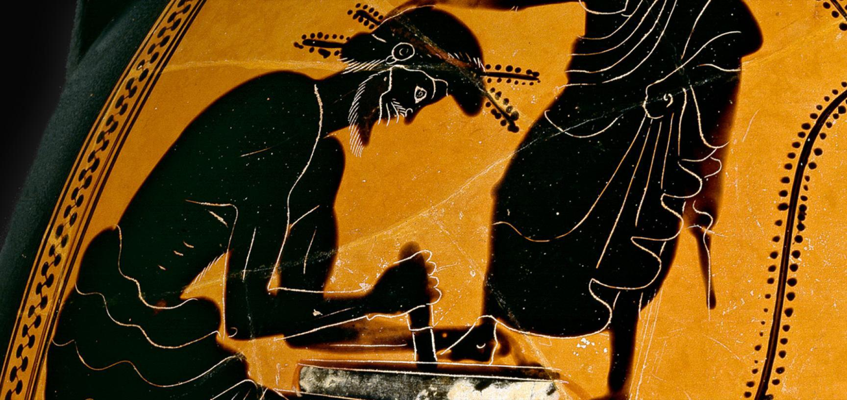 SHOEMAKER VASE (detail) from the Ashmolean collections