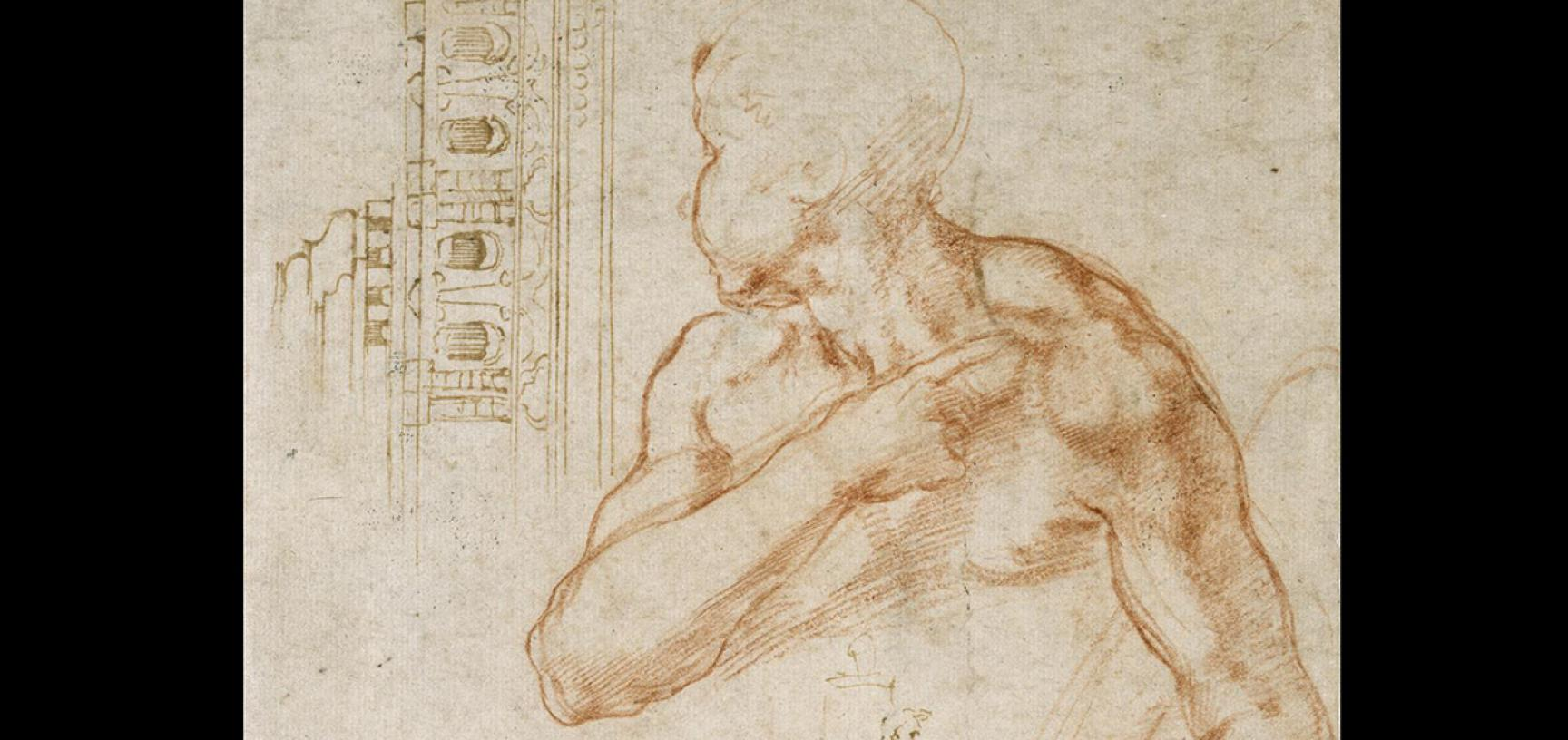 Michelangelo's studies by Michelangelo Buonarroti (detail)