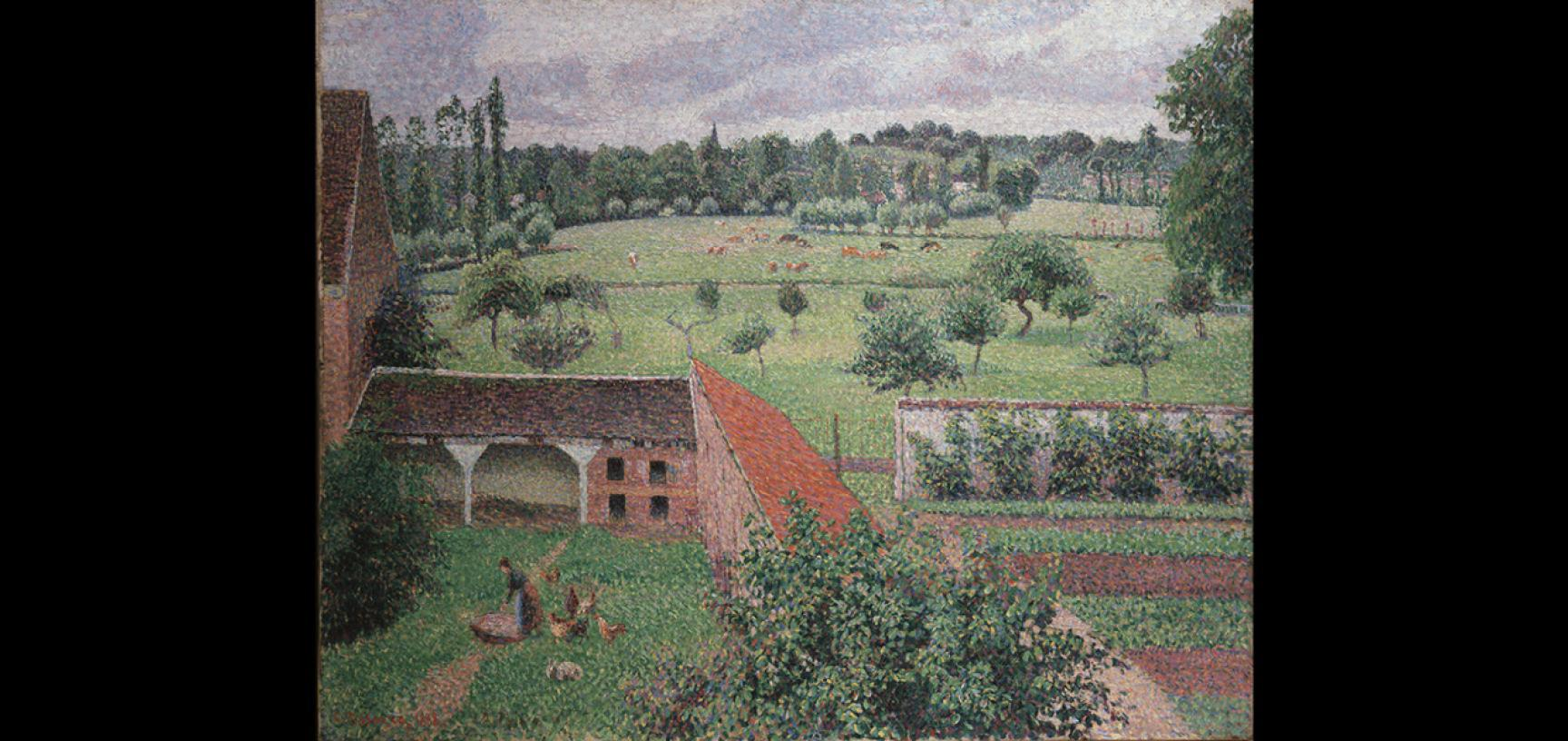 View from my Window by Camille Pissarro (1830–1903) detail