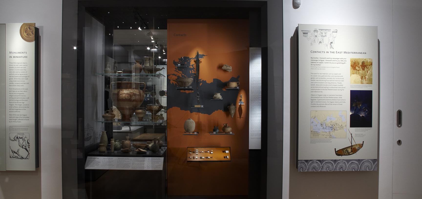 The Aegean World Gallery at the Ashmolean Museum