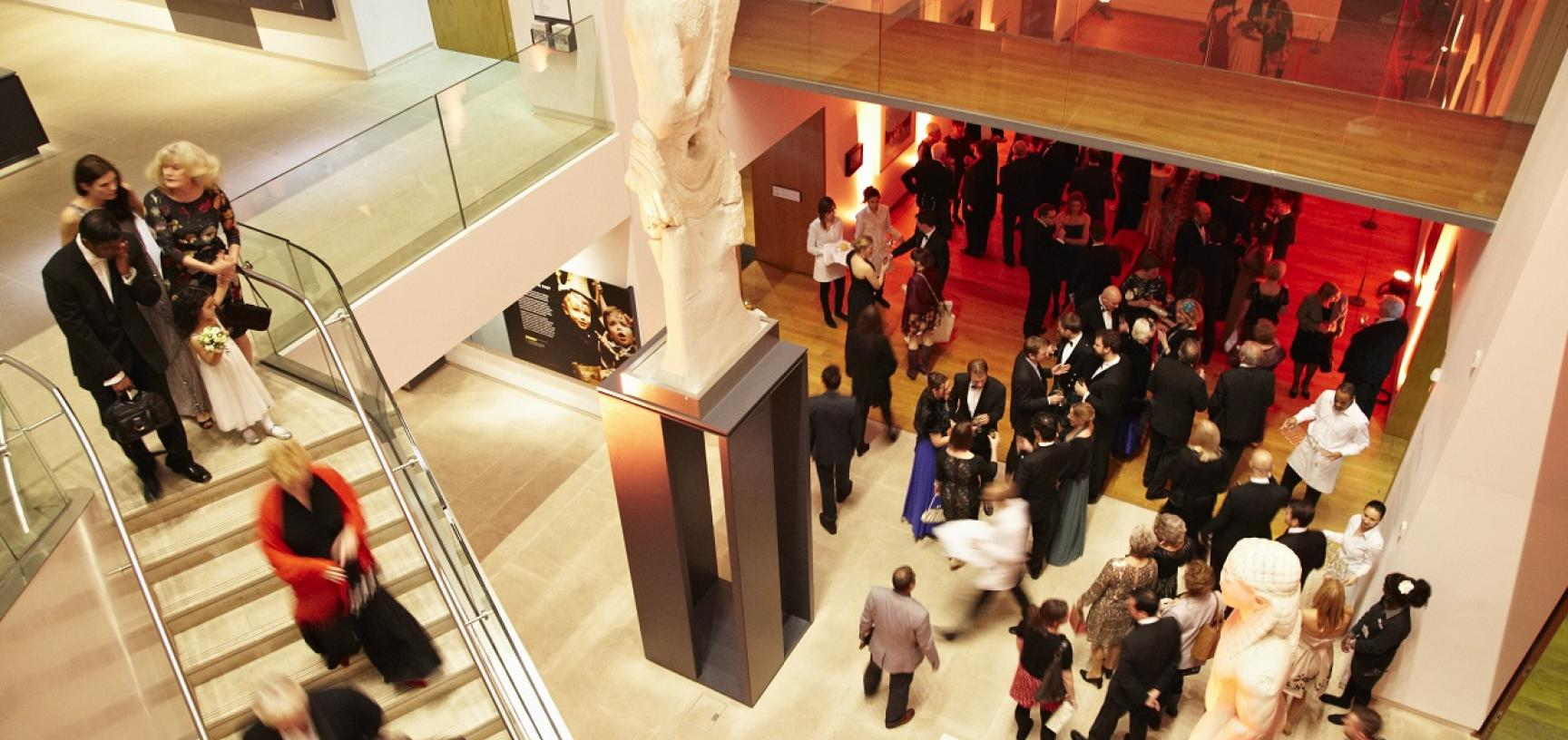 Corporate entertaining in the Ashmolean's Atrium foyer