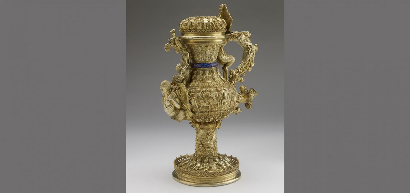 PORTUGUESE GILT EWER from the Ashmolean collections