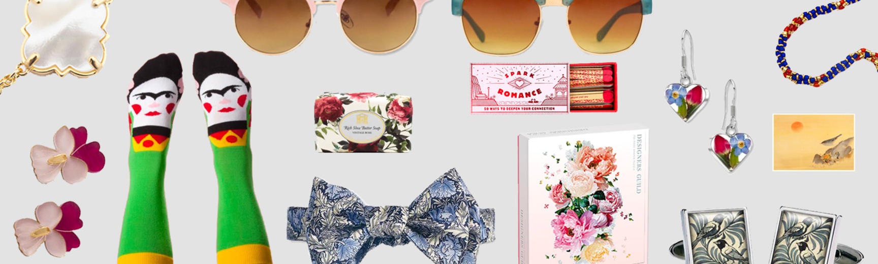 Selection of Valentine's Day Shop Products