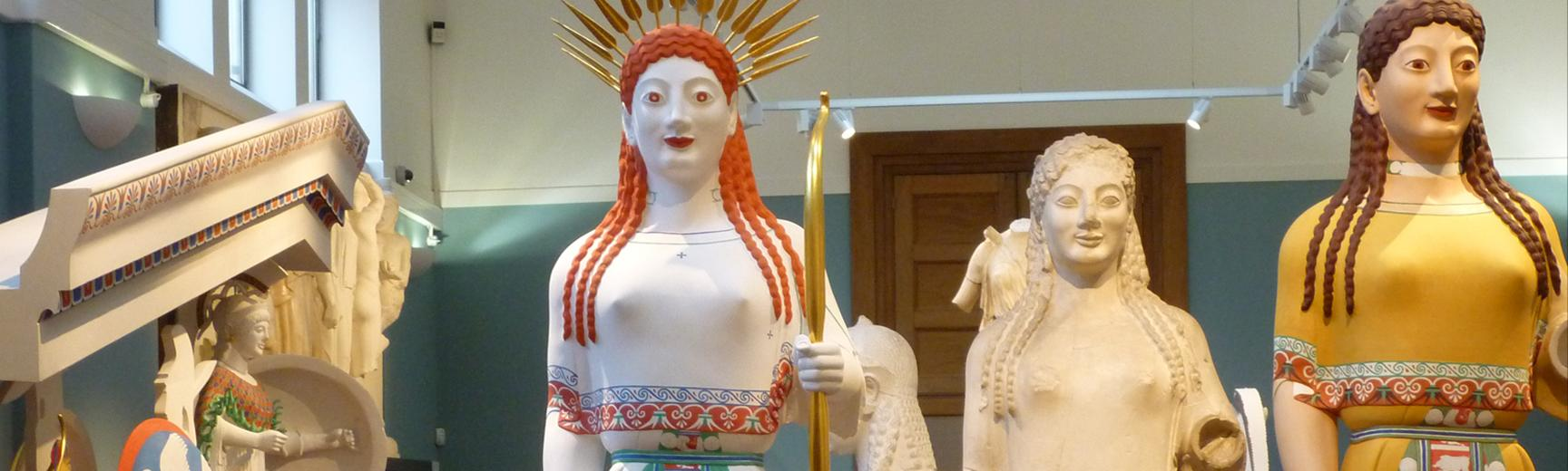 Restoring the colour to Ashmolean Museum statues