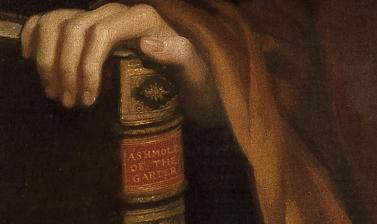 Portrait of Elias Ashmole by John Riley (detail)