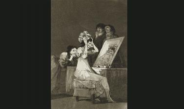 Hasta la muerte by Francisco José de Goya y Lucientes