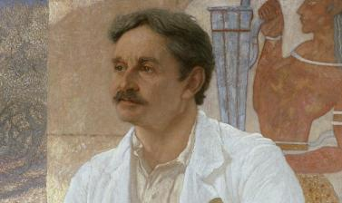 Sir Arthur Evans among the Ruins of the Palace of Knossos by Sir William Blake Richmond (1842 - 1921)