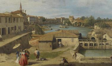 A View of Dolo on the Brenta Canal, by Canaletto