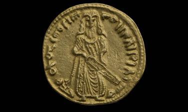 Standing Caliph Dinar, AD 696-697