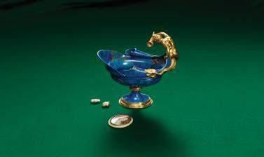 Lapis Lazuli Ewer wrapped in Gold