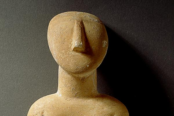 Cycladic figure, 30cm, (detail)