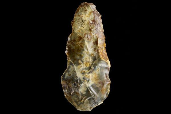 an 1928 221 flint hand axe