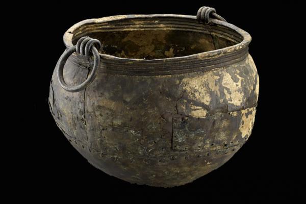 an 1928 324 bronze age cauldron