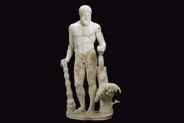 an 1928 529 hercules statue