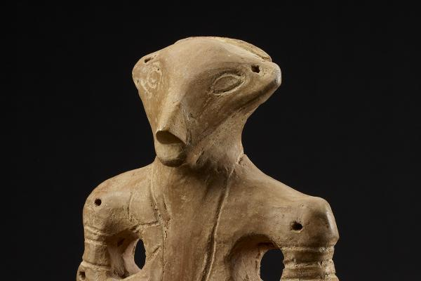 Female terracotta figurine (detail), Serbia, 5500-4000 BC