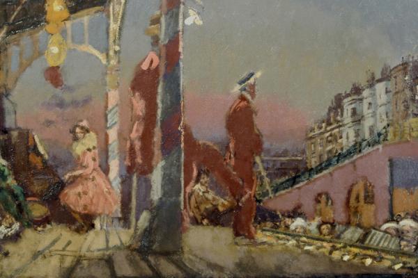 Brighton Pierrots (1915) by Walter Sickert at the Ashmolean Museum