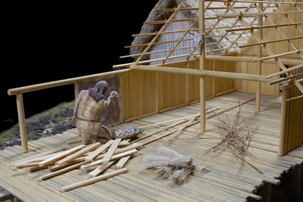 na 73 10 neolithic lake village model wattle and daub