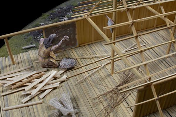 na 73 11 neolithic lake village model close up daub