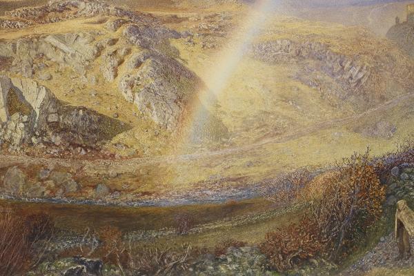 A W Hunt - Rainbow, Dolwyddelan Valley at the Ashmolean Museum
