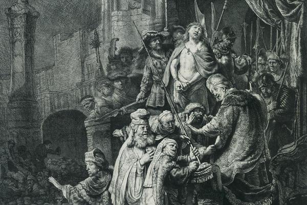 2020 Young Rembrandt Exhibition – Rembrandt and Jan van Vliet, Christ before Pilate, Ecce Homo, 1635–6 © Fondation Custodia, Paris