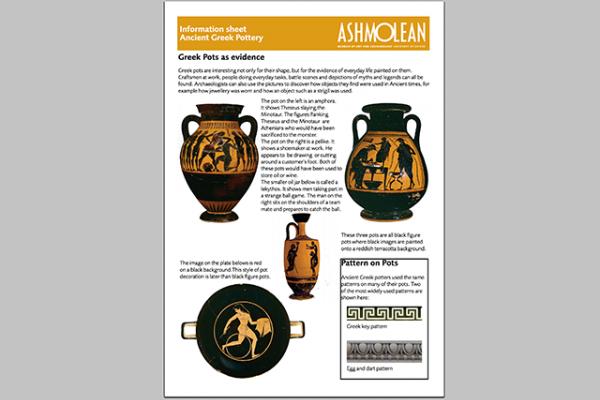 learn pdf information sheet ancient greek pottery