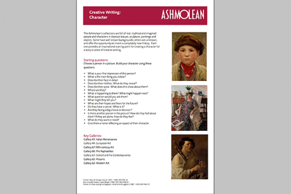learn pdf creative writing character