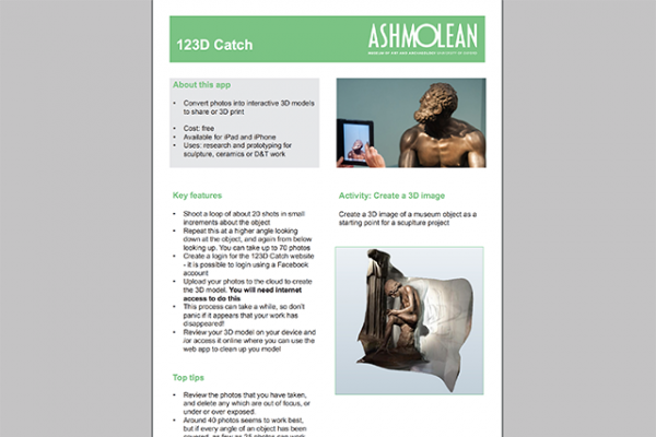 Learn PDF 123D Catch