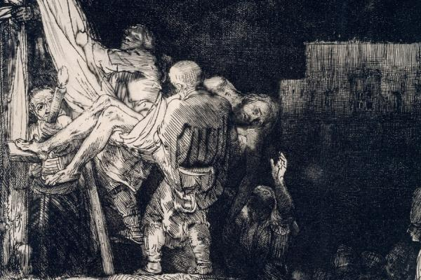 Rembrandt, The Descent from the Cross by Torchlight, 1654