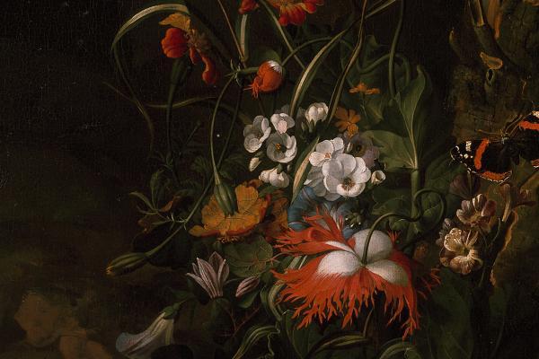 A Forest Floor Still Life of Flowers – by Rachel Ruysch – WA1940.2.64