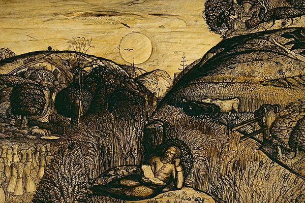 The Valley thick with Corn, by Samuel Palmer