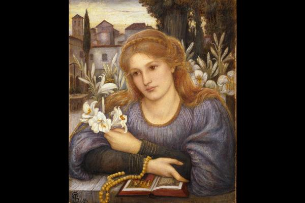 Cloister Lillies by Marie Spartali Stillman