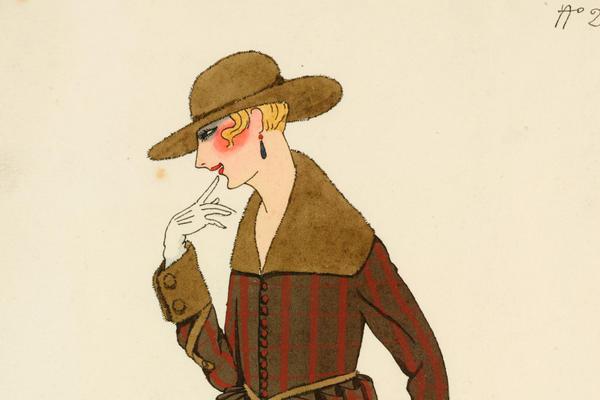 Alberto Fabio (Fabius) Lorenzi (1880–1964), Costume Design No 2