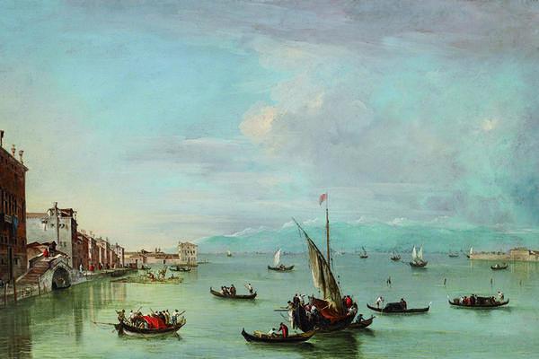 Landscape painting of Venice
