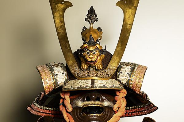 Samurai suit Iron, gilt iron, gilt soft metals, lacquer, gilt leather, doeskin, crystal, mother-of-pearl, silk, wood, and bear fur