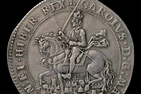Oxford Crown minted in Oxford during the Civil War, 1644