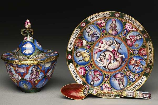 astrological tea set