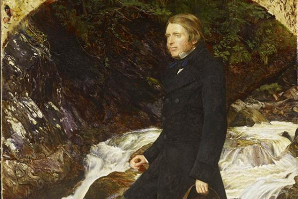 Portrait of John Ruskin standing by the stream at Glenfinlas, John Everett Millais, 1853