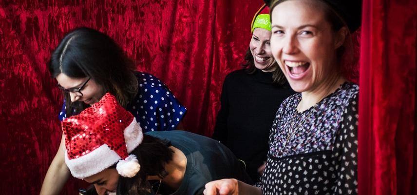 Christmas Parties Photobooth at the Ashmolean