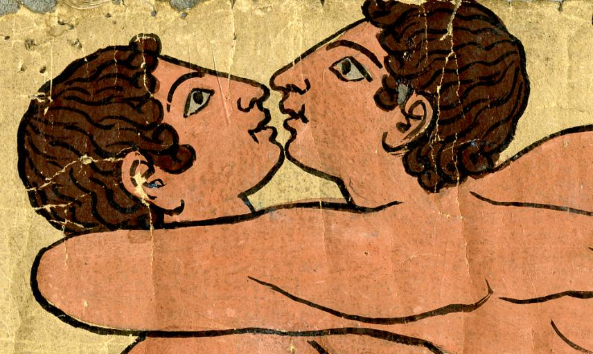 No Offence Exhibition – Fragment of a tomb painting, Etruscan, about 490 BC