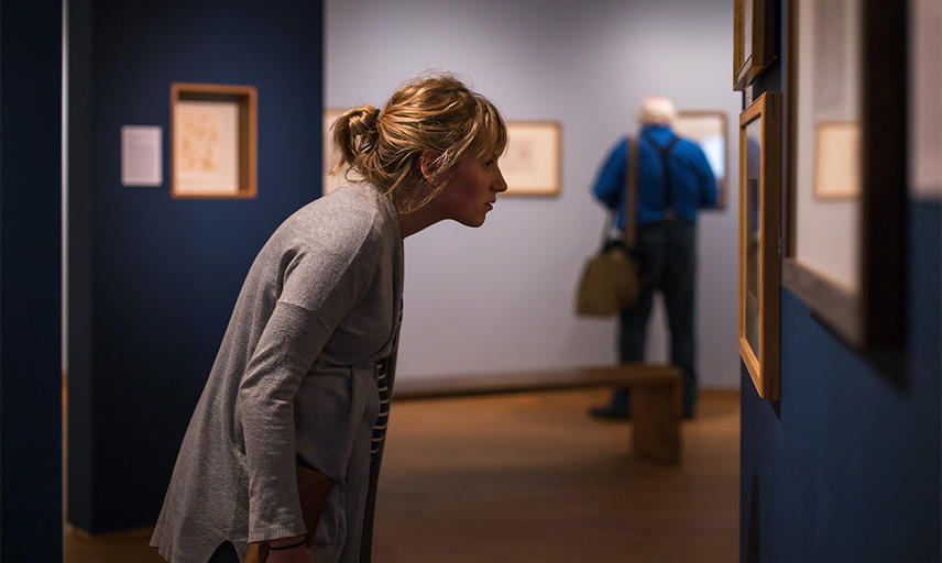 A member enjoying one of the special exhibitions