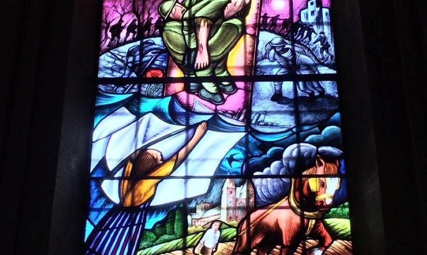 Stained glass window from Southwell minster.