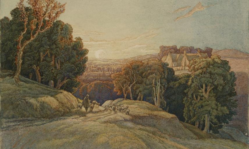 Sunset in the Cotswolds - Frederick Landseer Maur Griggs